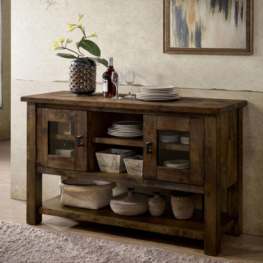 Carbon Loft  Glamdring Rustic Dining Buffet (Rustic Oak)