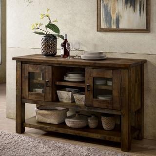 Shop Furniture Of America Matthias Industrial Rustic Pine