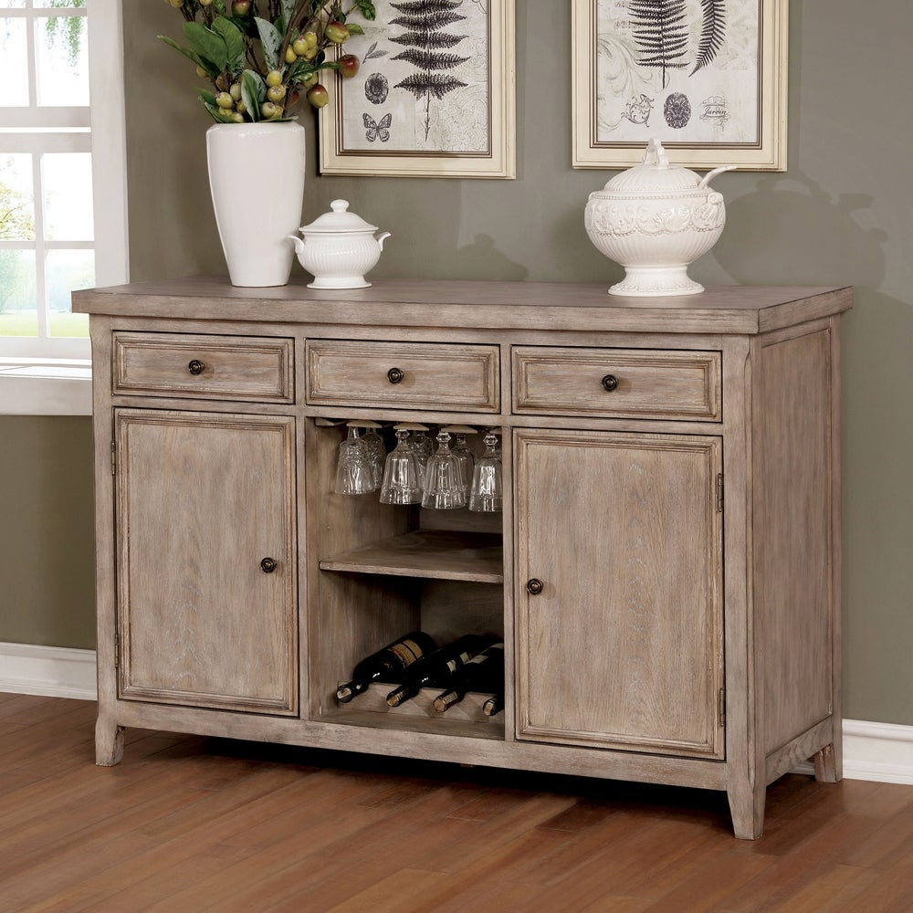 Furniture of America  Windswept Rustic Reclaimed Finish 3-drawer Buffet (natural tone)