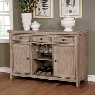 Furniture of America Delano Rustic Natural 3-drawer Buffet