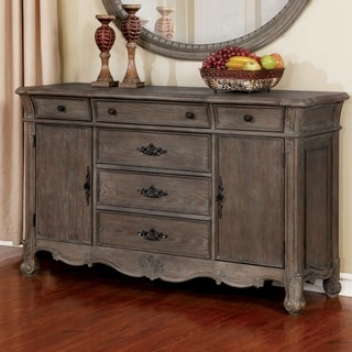 Furniture of America Yazd Traditional Grey 64-inch Solid Wood Buffet