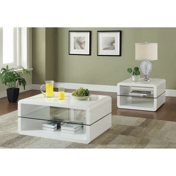 Shop Modern Cube Design Living Room Accent Table Collection ...