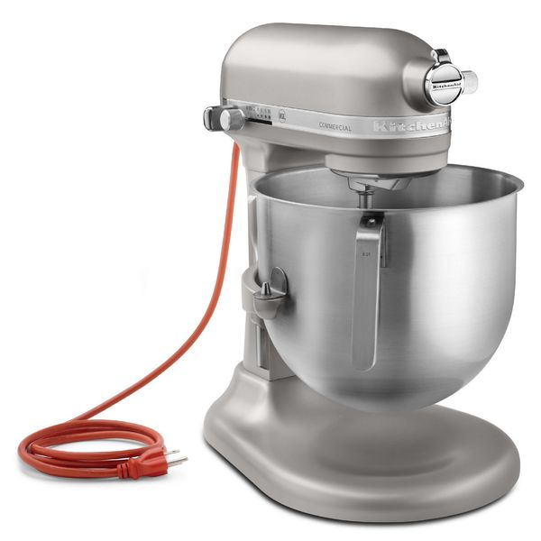 Kitchenaid 8 Quart Nickel Pearl Commercial Bowl Lift Stand Mixer Refurbished