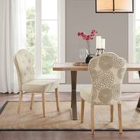 "Madison Park Esther Beige Multi Dining Chair (set of 2) - 19.5""w x 23.5""d x 39.5""h"