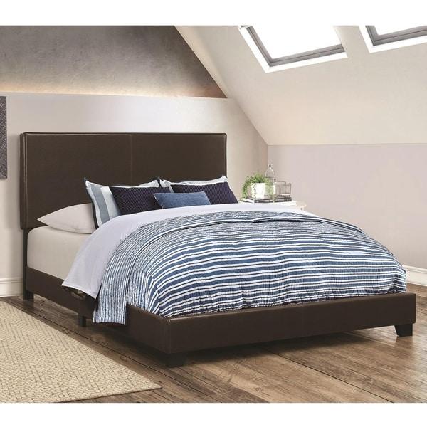 Shop Leather Upholstered California King Size Platform Bed
