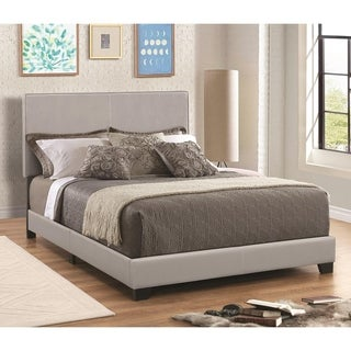 Leather Upholstered Full Size Platform Bed, Gray