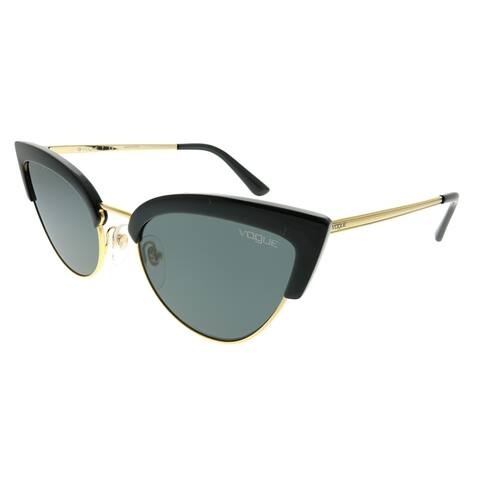 Vogue Eyewear Cat-Eye VO 5212S W44/87 Women Black Gold Frame Grey Lens Sunglasses