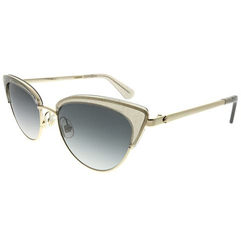 Kate Spade Cat-Eye Jahnam/S KB7 9O Women Grey Frame Dark Grey Gradient Lens Sunglasses