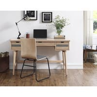 Nordic Natural-finish Wood Mid-century Modern 3-drawer Desk
