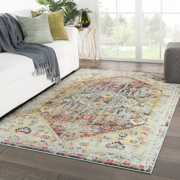 "Milena Medallion Multicolor Area Rug - 7'10"" x 9'10"""