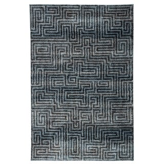"Roan Geometric Blue/ Gray Area Rug - 7'6"" x 9'6"""