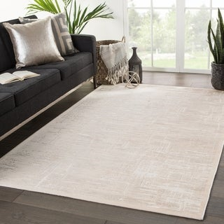 "Bertoia Abstract Beige/ Gray Area Rug - 7'6"" x 9'6"""