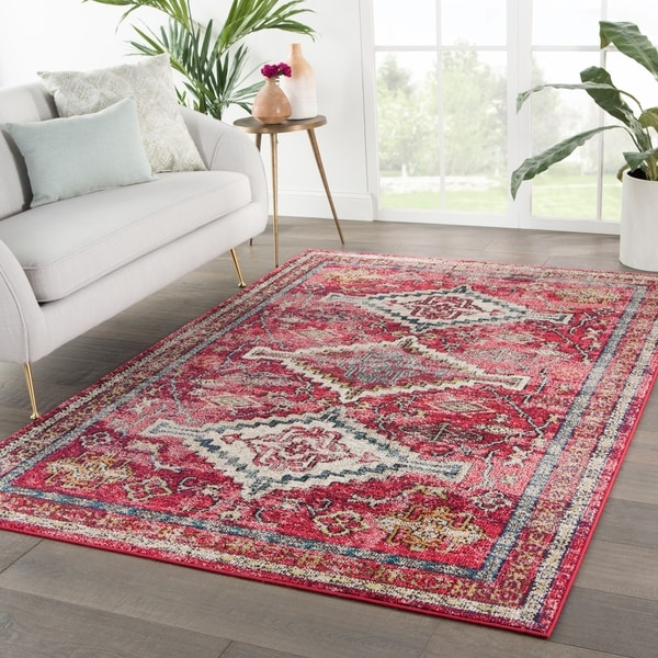 Shop Dreya Medallion Pink/ Gold Area Rug