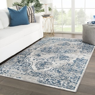 "Vernado Medallion Blue/ Gray Area Rug - 8'3"" x 12'7"""