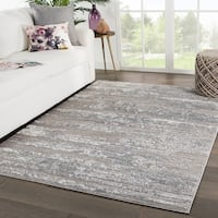"Lawton Abstract Gray/ White Area Rug - 7'10"" x 10'2"""