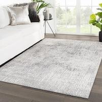 "Elmira Abstract Light Gray/ White Area Rug - 7'10"" x 10'2"""