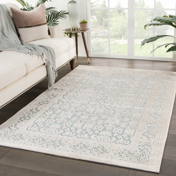 Shop Bristol Damask Teal/ Ivory Area Rug