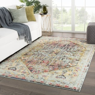 Milena Medallion Multicolor Area Rug - 4' x 5'8""