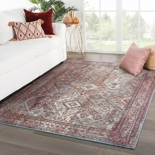 The Curated Nomad Bosworth Medallion Purple Area Rug - 4' x 5'8 - 4' x 5'8""