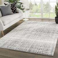 "Paylor Abstract Gray/ White Area Rug - 7'10"" x 10'2"""