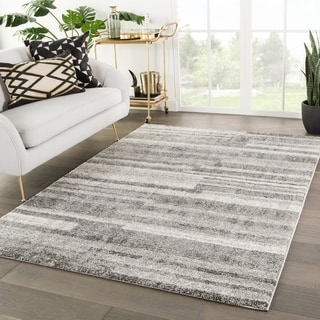 Amine Geometric Gray Area Rug - 2' x 3'
