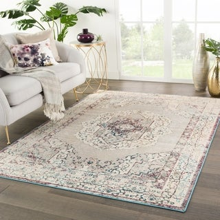 The Curated Nomad Rockland Medallion Multicolor/ Cream Area Rug - 4' x 5'8 - 4' x 5'8""