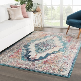 The Curated Nomad Shotwell Medallion Multicolor Area Rug - 4' x 5'8""