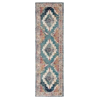 """The Curated Nomad Shotwell Medallion Multicolor Runner Rug - 2'6"""" x 8' Runner"""