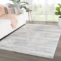 Montclair Abstract Gray/ White Area Rug - 5'3 x 7'6