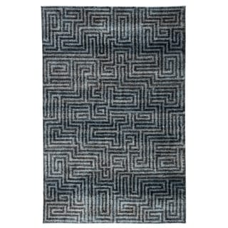 "Roan Geometric Blue/ Gray Area Rug - 8'10"" x 12'"