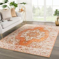 Galena Orange/Brown Medallion Area Rug - 7'10 x 9'10