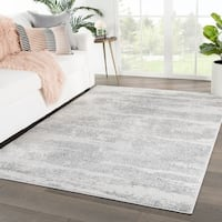 "Montclair Abstract Gray/ White Area Rug - 7'10"" x 10'2"""