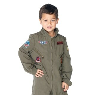 Leg Avenue Children's Top Gun boys flight suit SMALL KHAKI