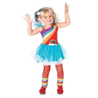 Leg Avenue Children's 3PC.Rainbow Doll,petticoat dress,leg warmers,headband 3T-4T AQUA