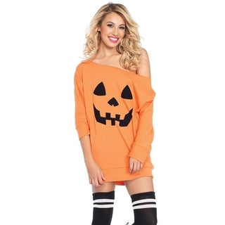 Leg Avenue Women Costume's Jersey pumpkin dress