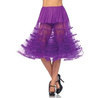 Leg Avenue Women's Mid-Length Petticoat , O/S, Grape