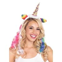 Leg Avenue Women's Costumes Rainbow Unicorn Headband , O/S, Multicolor