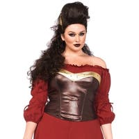 Leg Avenue Women's  Plus-Size Armor Bustier Costume Accessory , 1X-2X, Brown