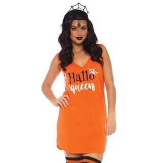 Leg Avenue Women's Halloqueen JerSexy Dress, Small, Orange