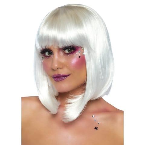 Leg Avenue Women's Fashion Synthetic Costume Cosplay Short Bob Wig Os, O/S, White