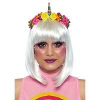 Leg Avenue Women's Rainbow Unicorn Flower Headban, O/S, Multicolor