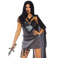 Leg Avenue Women's Throne Warrior,Udes Dress, Small, Black
