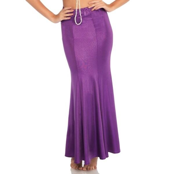 Leg Avenue Women's Plus Size Shimmer Mermaid Tail Skirt , 1X-2X, Purple