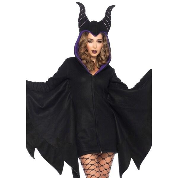 f44d14b66849f Shop Leg Avenue Women's Cozy Villain Costume , Small, Black - Free Shipping  Today - Overstock - 23555463