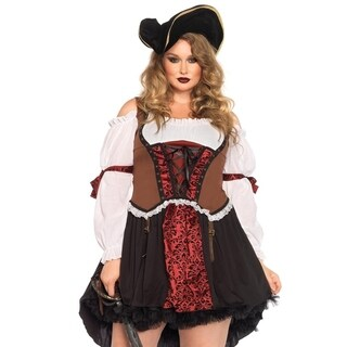 Leg Avenue Women's Plus-Size Ruthless Pirate Wench Costume Multi 1, 1X-2X, Multicolor