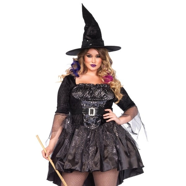 02d383978c2 Shop Leg Avenue Women's Plus-Size 2 Piece Magic Mistress Witch ...