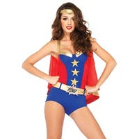 Leg Avenue Women's  3 Piece Comic Book Girl Costume  , Small, Blue/Red