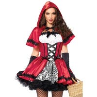 Leg Avenue Women's  2 Piece Gothic  Riding Hood Costume  , Small, Red/White