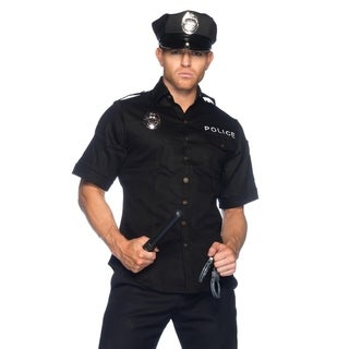 Leg Avenue's 4Pc. Men'S Police Shirts Hand Cuff Hats And Baton