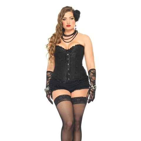 Leg Avenue Sasha Corset ,3X-4X ,BLACK